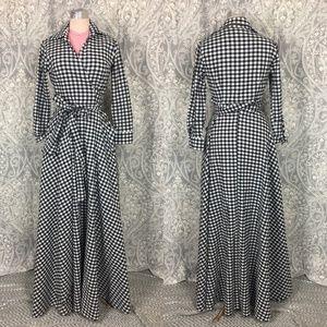 NWOT Shabby Apple Central Park Gingham Maxi Dress